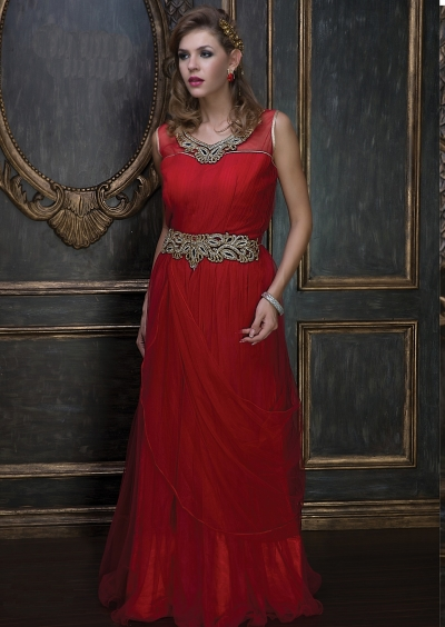 Embroidery-work-net-santoon-red-gown