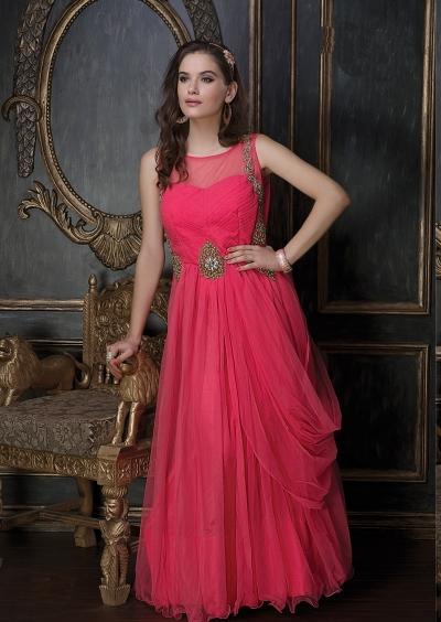 Embroidery-work-net-santoon-pink-gown