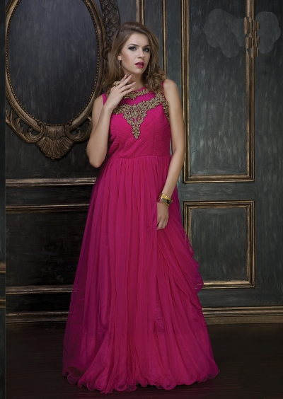 Embroidery-work-net-santoon-pink-gown