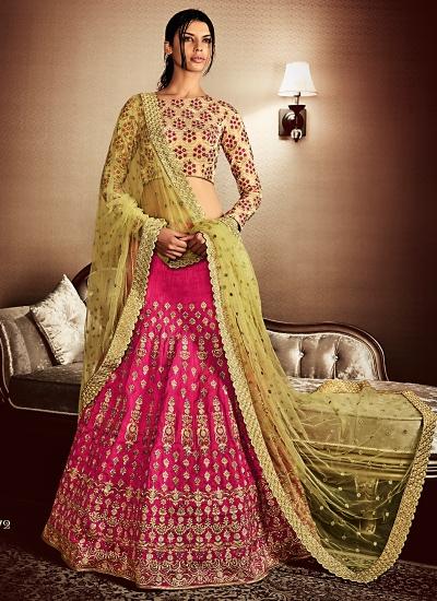 Observable Magenta Cotton Designer Lehenga Choli