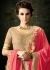 Beige and pink lycra party wear anarkali