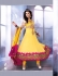 Fresh yellow georgette party wear anarkali suit