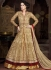 Beige and maroon color net party wear anarkali suit
