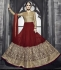 Maroon color georgette party wear anarkali suit