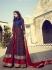 Navy blue and red silk wedding wear Lehenga style kameez