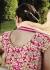 Nargis Fakhri cream and pink  georgette party wear lehenga style kameez