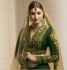 Dark green color mudal silk wedding lehenga