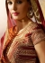 Beige and maroon silk wedding lehenga choli