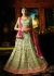 Mint green color silk  wedding lehenga choli
