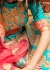 Blue and pink silk wedding lehenga choli