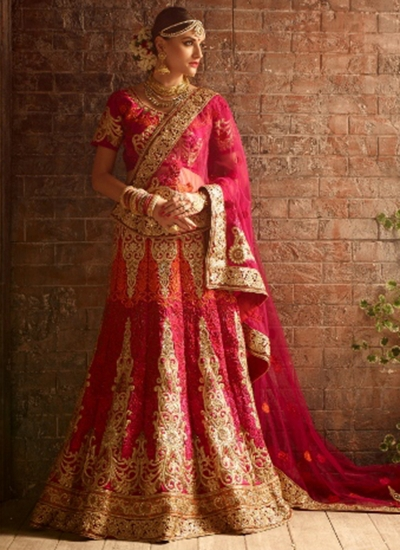 9a93d1088c11 Buy Pink color net bridal lehenga choli in UK, USA and Canada