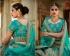 Teal green silk bridal lehenga choli