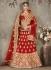 Red color pure silk bridal lehenga choli