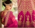Rani color silk bridal lehenga choli