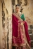 Beige and maroon panetar Indian wedding wear saree