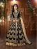 Mouni Roy Black Tapeta silk wedding wear lehenga style kameez
