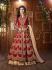 Mouni Roy Red Tapeta silk wedding wear lehenga style kameez