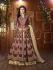 Mouni Roy maroon Tapeta silk wedding wear lehenga style kameez
