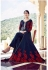 Navy blue tapeta silk party wear anarkali suit
