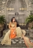 Orange and cream georgette party wear palazzo  kameez