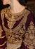 Beige and maroon  color net and velvet  wedding wear anarkali