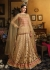 Cream and pink bangalori silk and net wedding wear anarkali