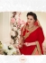 Party wear pink red color saree