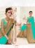 Party wear green color saree