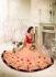 Party wear peach color saree