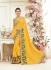 Party wear yellow color saree