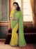 Party-wear-Yellow-Green-color-saree