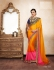Party-wear-yellow-pink-color-saree