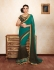 Party-wear-Green-Brown-color-saree