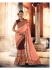 Party-wear-Wine-Peach-color-saree