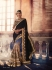 Party-wear-Blue-Black-KilimBeige-color-saree