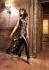 Black color silk designer party wear suit