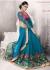 Party-wear-cyan-blue-color-saree