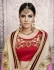 Party-wear-peach-pink-red-color-saree