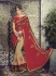 Party-wear-Red-Chikoo-1-color-saree