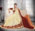 Party-wear-orange-yellow-brown-color-saree