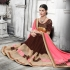 Party-wear-brown-pink-color-saree