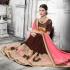 Party-wear-brown-pink-color-saree