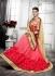 Party-wear-pink-cream-color-saree