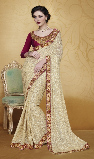 Party-wear-Beige-4-color-saree