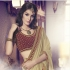 Party-wear-chikoo-maroon-color-saree