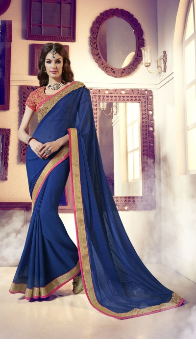 Party-wear-blue-pink-2-color-saree