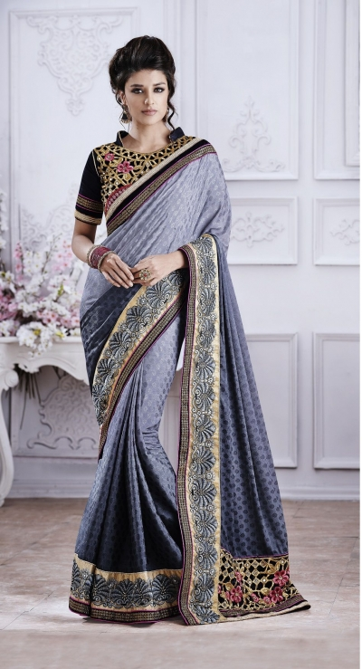Party-wear-Grey5-color-saree