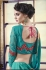 Party-wear-teal-green-color-saree
