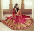 Party-wear-Red-Coral-Pink-color-saree