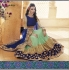 Party-wear-Sea-Green-Blue-color-saree